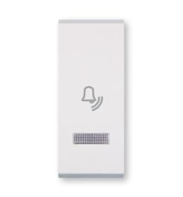 Tasteri za sklopke jednostruki - Beli sa oznakom zvona i indikacijom