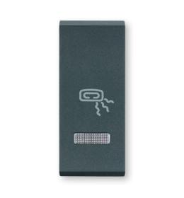 Tasteri za sklopke jednostruki - Antracit sa oznakom grejalice i indikacijom