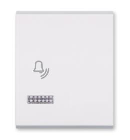 Tasteri za sklopke dvostruki - Beli sa oznakom zvona i indikacijom