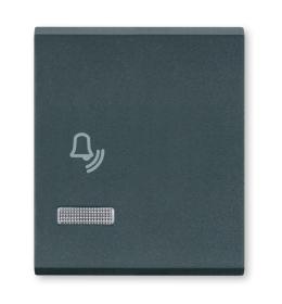 Tasteri za sklopke dvostruki - Antracit sa oznakom zvona i indikacijom