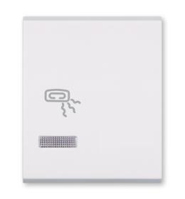Tasteri za sklopke dvostruki - Beli sa oznakom grejalice i indikacijom