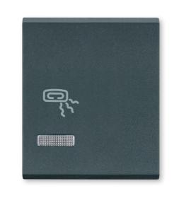 Tasteri za sklopke dvostruki - Antracit sa oznakom grejalice i indikacijom