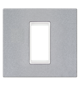 Okvir 1M silver sa belim nosačem Aling EXP