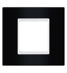 Okvir 2M crna sa belim nosačem Aling EXP