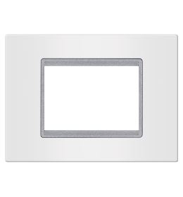 Okvir 3M bela sa silver nosačem Aling EXP