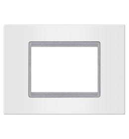 Maska 2M/3M EXP BASIC, bela sa silver nosačem