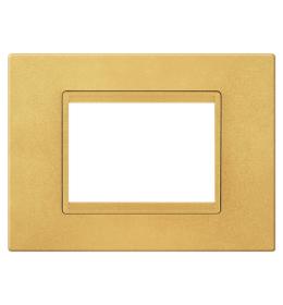 Maska 4M EXP METALIK, metalik zlatna