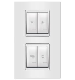Indikator za kupatilo 4M vertikalno bela Aling EXP
