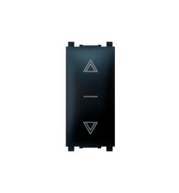 Sklopka za roletne 10AX 250V~ EXP 1M, crna soft