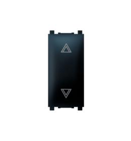 Taster sklopka za roletne 10AX 250V~ EXP 1M, crna soft