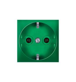 Priključnica dvopolna 16A 250V~ EXP 2M, zelena