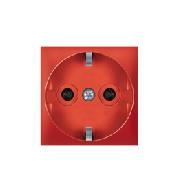 Priključnica dvopolna 16A 250V~ EXP 2M, crvena