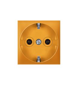Priključnica dvopolna 16A 250V~ EXP 2M, narandžasta