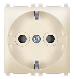 Priključnica 2p 2M šuko sa zaštitom kontakata krem Aling EXP