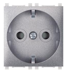 Priključnica 2p 2M šuko sa zaštitom kontakata siva Aling EXP