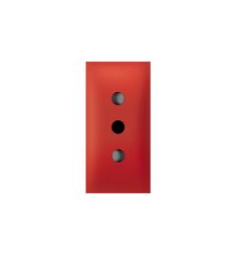 Priključnica dvopolna 10A 250V~ EXP 1M, CEI 23-50/P11 italijanska, crvena