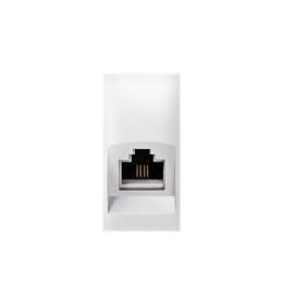 Priključnica telefonska Keystone RJ12 6/6 Cat3 EXP 1M, bela
