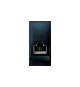 Priključnica telefonska Keystone RJ12 6/6 Cat3 EXP 1M, crna soft
