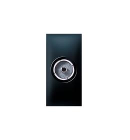 Priključnica antenska FM IEC F /F EXP 1M, crna soft