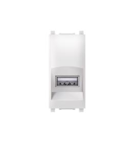 Priključnica USB konektor EXP 1M, bela