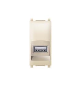 Priključnica USB konektor EXP 1M, krem