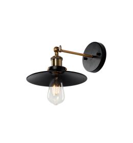 DAMON ZIDNA LAMPA 1XE27 CRNA D230mm ELMARK