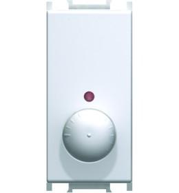 Regulator osvetljenja rotacijski dvokanalni R 300W 1M Beli TEM