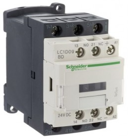 Kontaktor LC1D50AD7 50A/3p 42VAC 1NO+1NC Schneider
