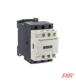 Kontaktor LC1D09Q7 9A/3p 380VAC 1NO+1NC Schneider