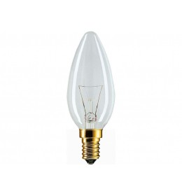 Sveća 40W E14 B35 bistra Philips